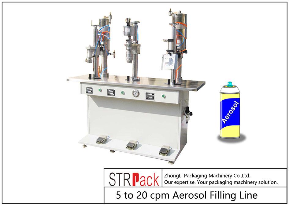 Ημι-αυτόματη μηχανή πλήρωσης αεροζόλ