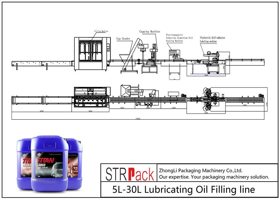 Αυτόματη γραμμή πλήρωσης λαδιού λίπανσης 5L-30L