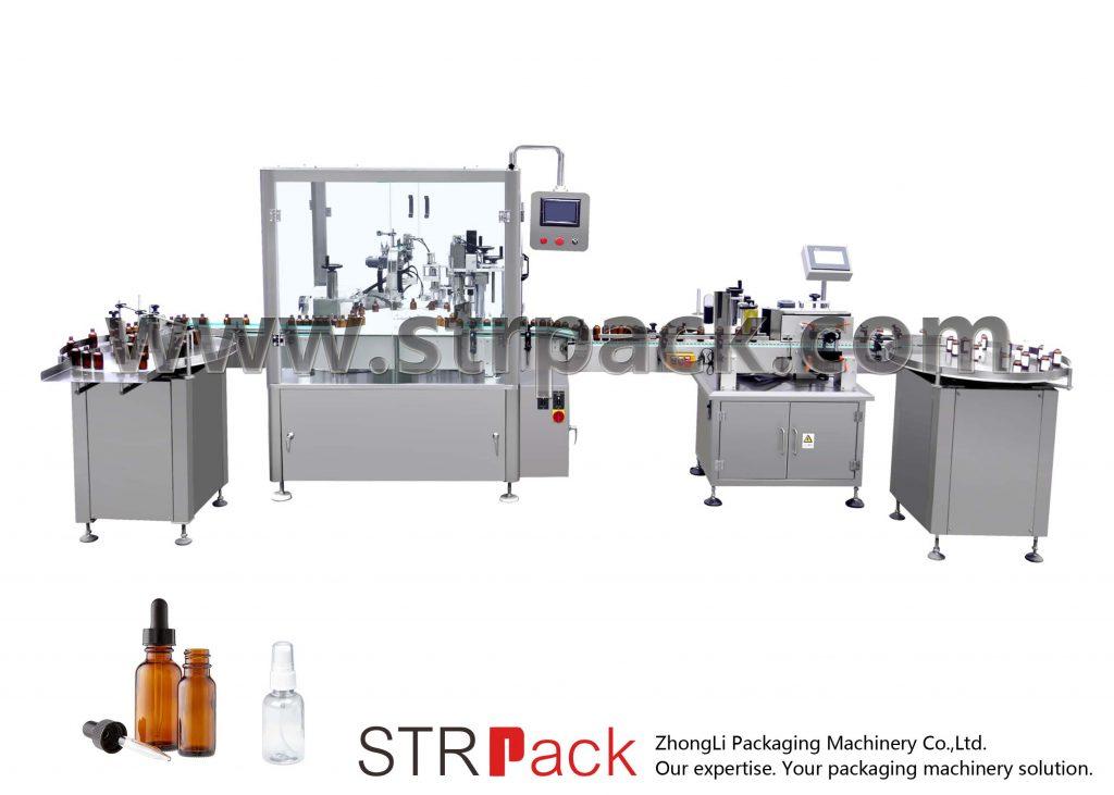 Αυτόματη μηχανή πλήρωσης και κάλυψης μπουκαλιών
