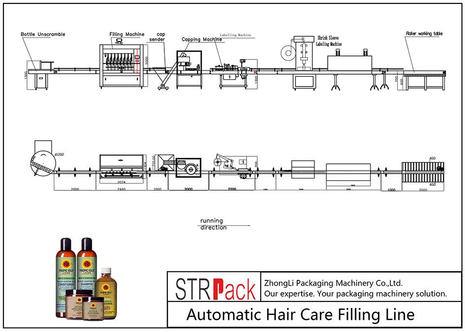 Αυτόματη γραμμή πλήρωσης περιποίησης μαλλιών