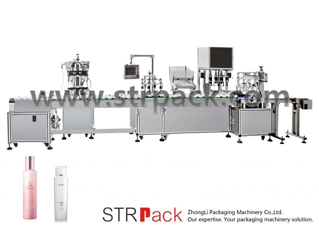 Αυτόματη μηχανή πλήρωσης και κάλυψης γαλακτώματος νερού
