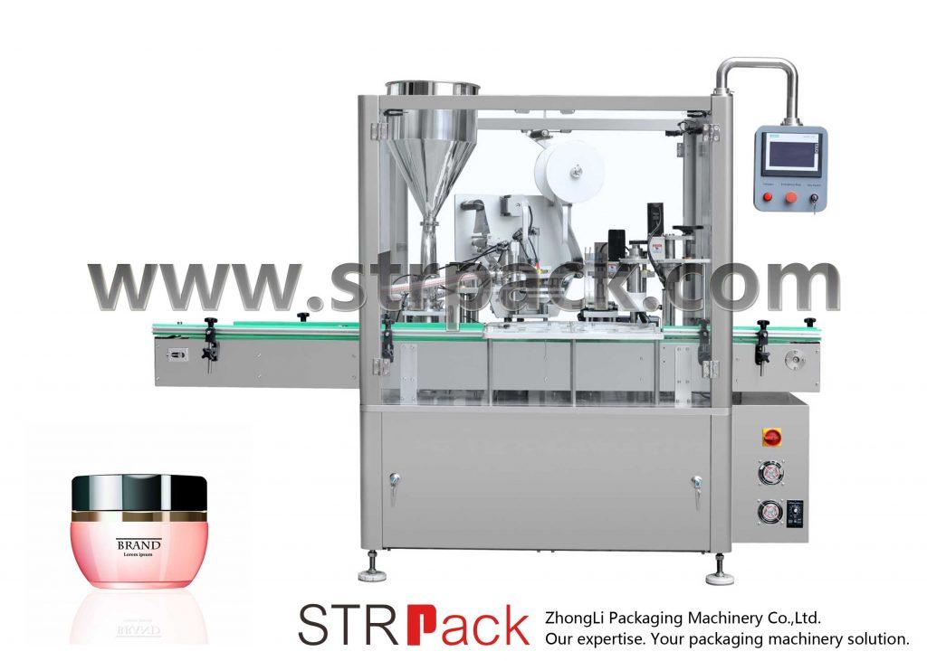 Μηχανή πλήρωσης, σφράγισης και κάλυψης κρέμας